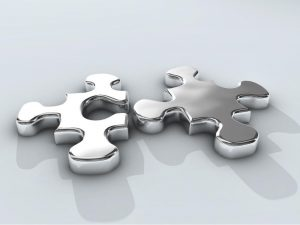 Chrome Puzzle Pieces